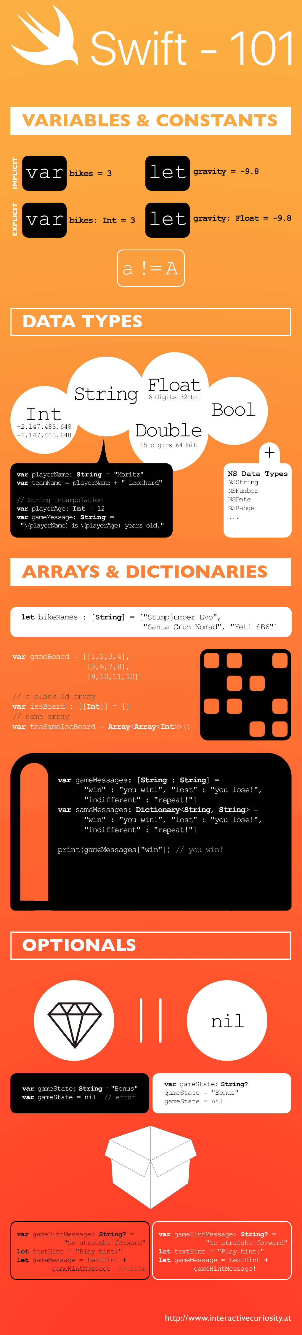 infographic swift 101 by www.interactivecuriosity.at